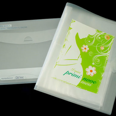 branded polypropylene folders