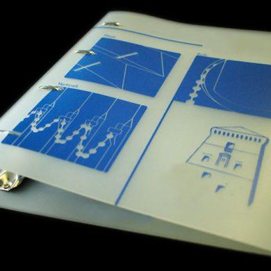 weiches ringbuch transparentes