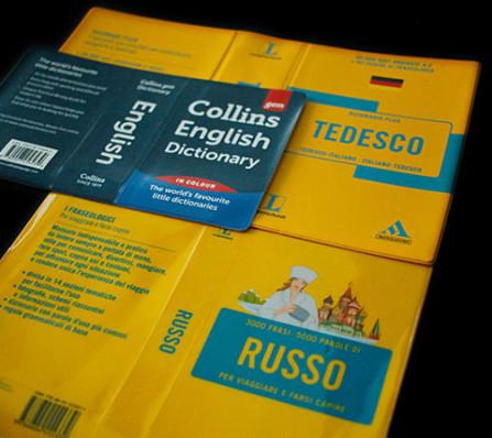 Umschläge für wörterbuch